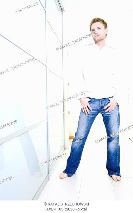 man standing in hall