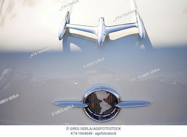 emblem on vintage automobile
