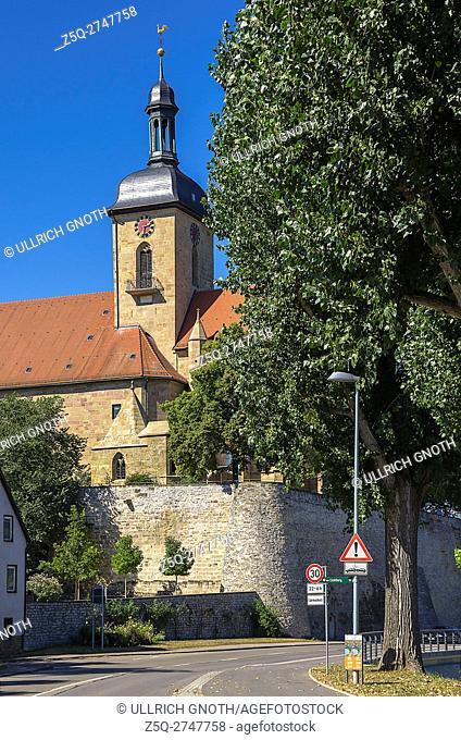 View of Regiswindis Church in the smalltown of Lauffen, Baden-Wurttemberg, Germany