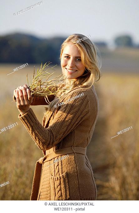 woman in autumn landscape