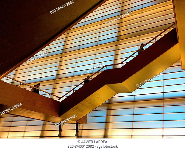 Stairs. Kursaal. Donostia. San Sebastian. Gipuzkoa. Basque Country. Spain