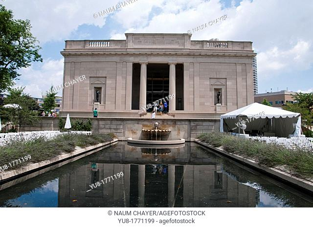 Front side of Rodin Museum after restoration, Philadelphia, Pennsylvania, USA