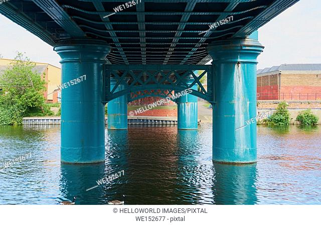 Lady Bay Bridge (opened 1878) is a road bridge across the river Trent, Nottingham, Nottinghamshire, east Midlands, England