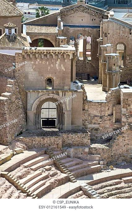 Roman Amphitheater in Cartagena, Murcia Spain