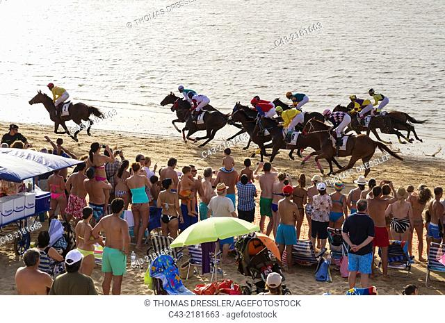 The famous horse races of Sanlúcar de Barrameda take place every year during August along a 1.800m stretch of beach at the mouth of the River Guadalquivir