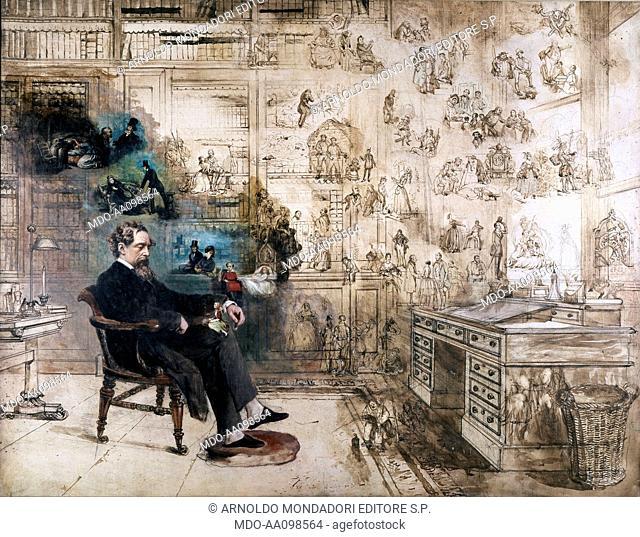 Dickens' dream, by Robert William Buss, 19th Century