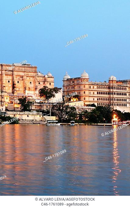 The City Palace, Lake Pichola  Udaipur  Rajasthan  India