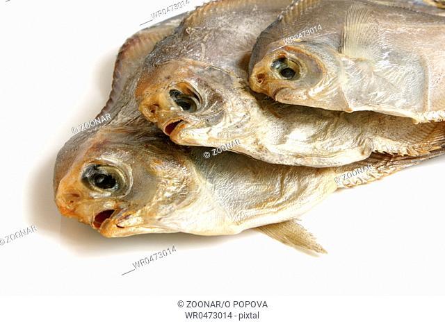 Dried piranhas
