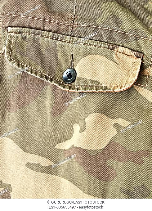 Camouflage fabric pocket on pants