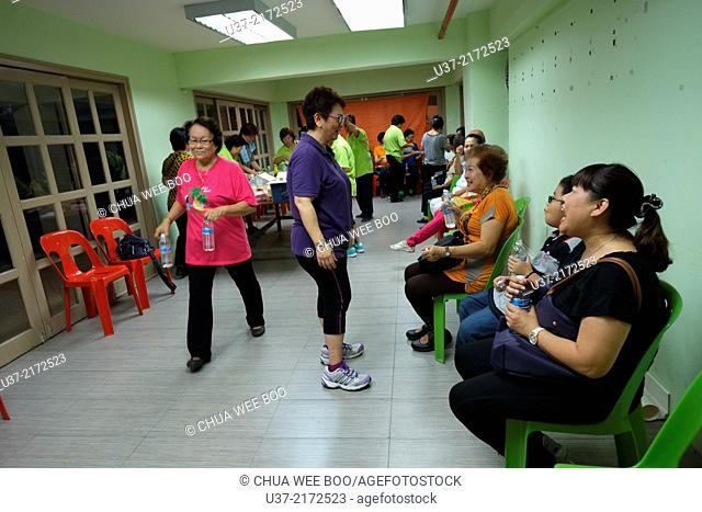 Light meals after night exercise at Sg. Maong Community Hall, Kuching, Sarawak, Malaysia
