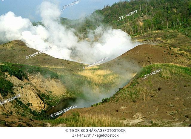 Japan, Hokkaido, Shikotsu-Toya National Park, Usu-zan Volcano, Nishiyama Crater