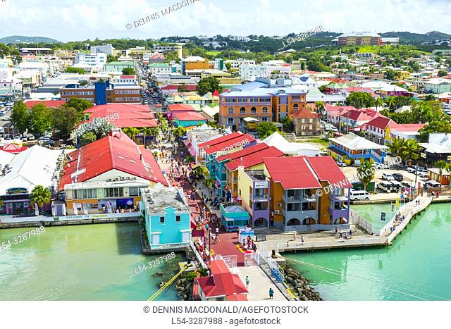 St. John's Antigua is the capital and largest city of Antigua and Barbuda, located in the West Indies in the Caribbean Sea and with a population of 22,193