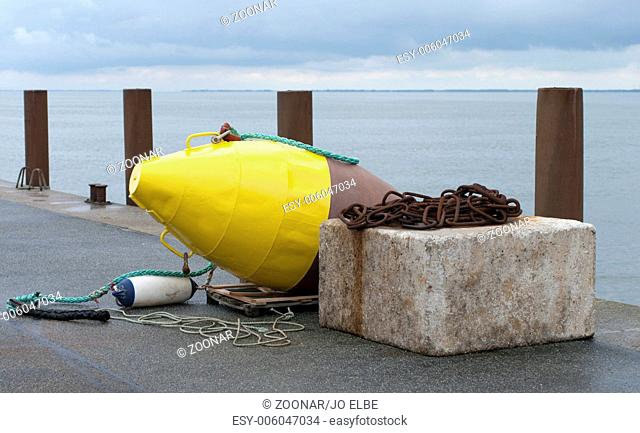 anchor rock and buoy