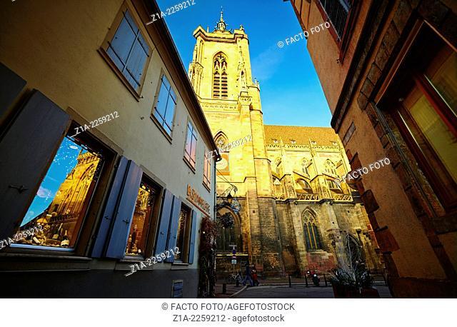Saint Martin's collegiate church, Colmar, Haut-rhin, Alsace, France