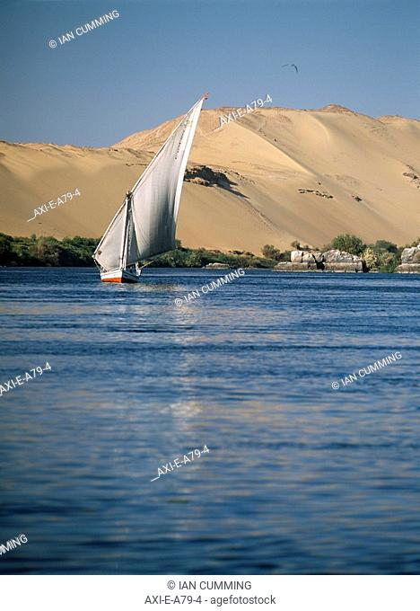 Felucca on River Nile, Aswan, Egypt