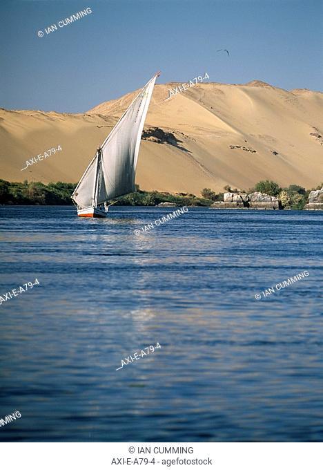 Felucca on River Nile, Aswan, Egypt