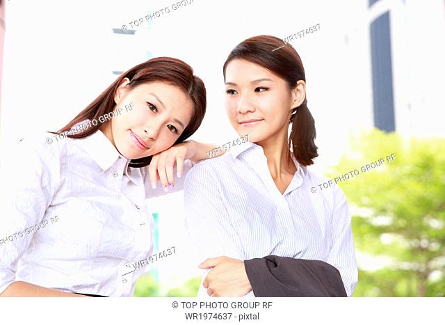 Two Asian young girls