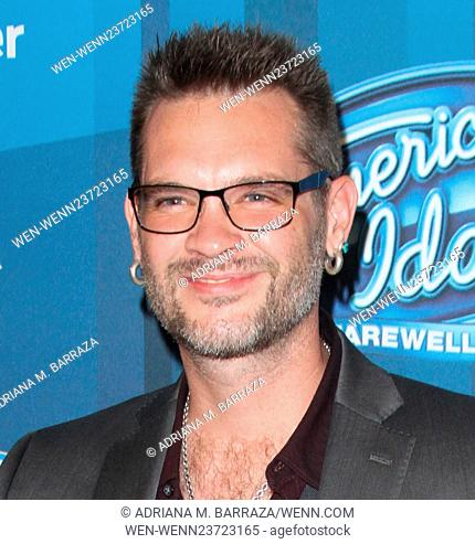 American Idol Finale held at the Dolby Theatre - Arrivals Featuring: Bo Bice Where: Los Angeles, California, United States When: 07 Apr 2016 Credit: Adriana M