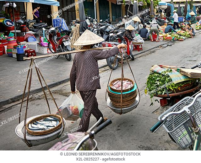 Central market in Hoi An Ancient Town. Quang Nam Province, Vietnam