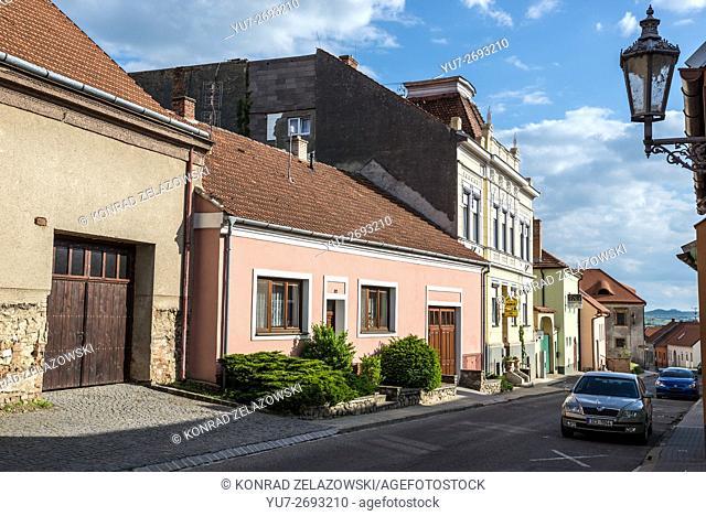 Buildings at Konevova Street in Mikulov town, Moravia region, Czech Republic