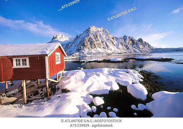 Svolvaer in Lofoten Islands. Norway