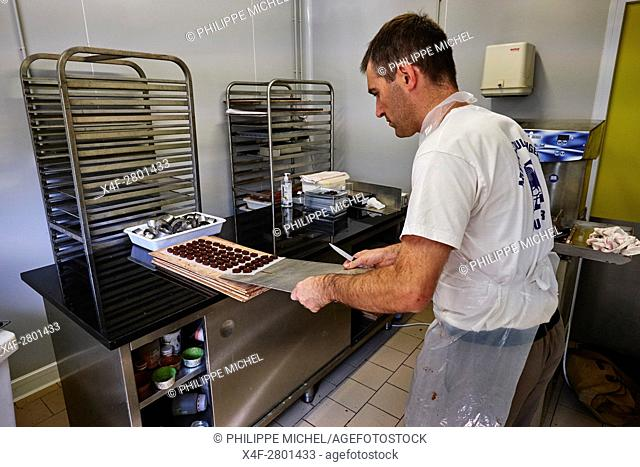 France, Cher (18), Bourges, Noel Jovy, chocolate maker