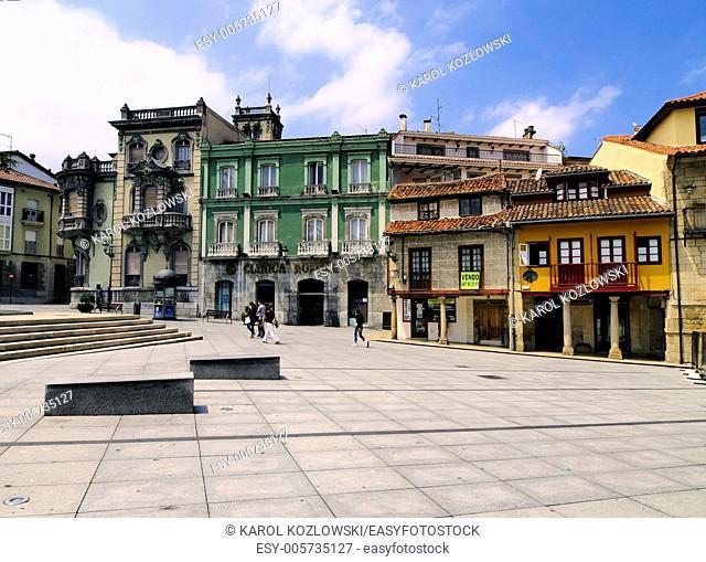 Aviles - beautiful small city in Asturias Region, northen Spain