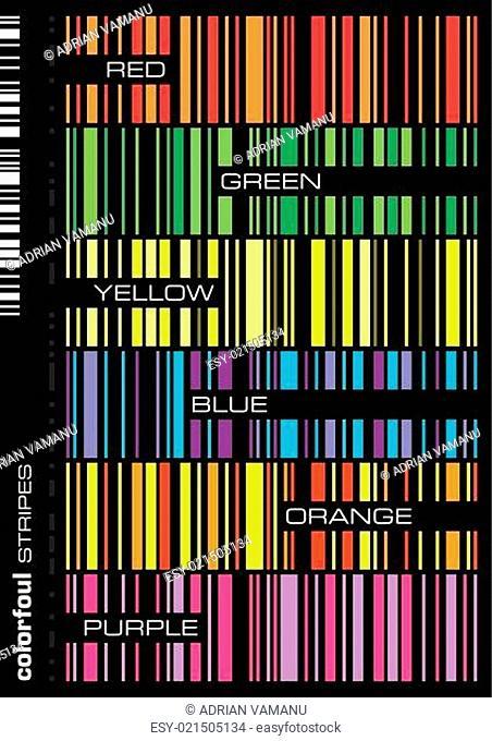 colorful seamless stripes set