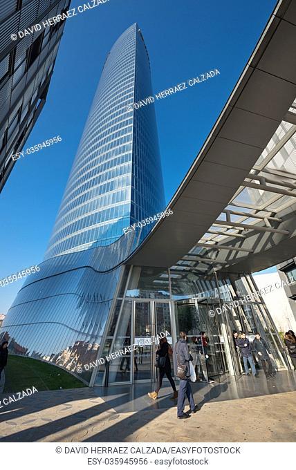 Iberdrola office skyscraper in Bilbao, Spain