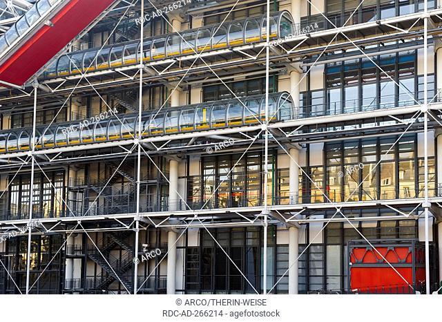 Pompidou Center, Paris, France / Centre Georges Pompidou, Beaubourg