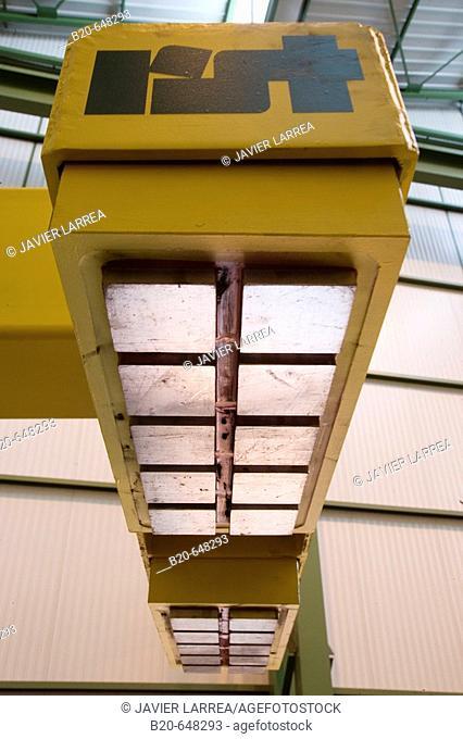 Permanent-electro magnetic telescopic beams for single sheet handling
