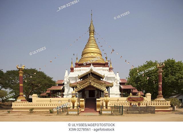 A temple in Old Bagan village, Mandalay region, Myanmar, Asia