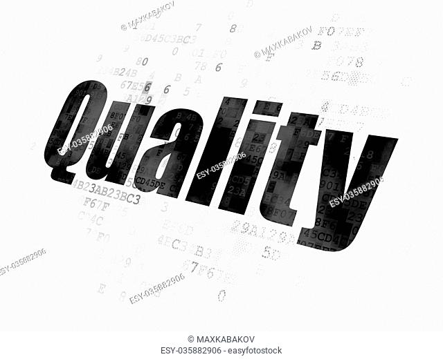 Advertising concept: Quality on Digital background