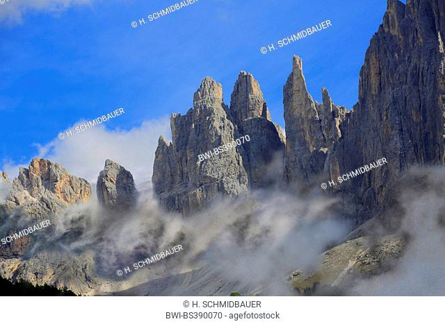 Vajolet Towers of Rosengarten group, Italy, South Tyrol, Dolomites