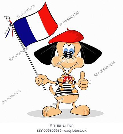 Cartoon dog from France