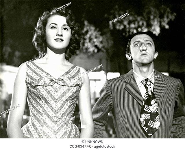 The Italian actors Carlo delle Piane and Anna Maria Moneta Caglio in a scene from the movie La Ragazza di Via Veneto