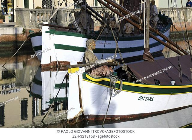 Harbor channel Leonardesque, Nativity of the Navy, Marineria Museum (Presepe della Marineria), Cesenatico, Forlì-Cesena, Emilia Romagna, Italy