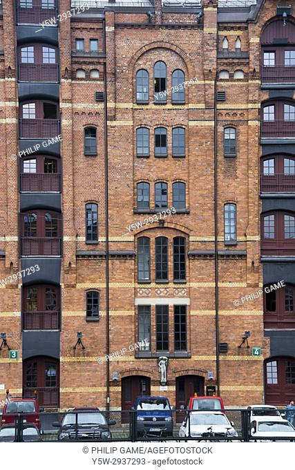1920s warehouse district of Speicherstadt, Hamburg, Germany