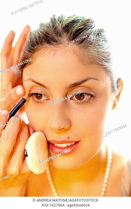 Woman make up face portrait