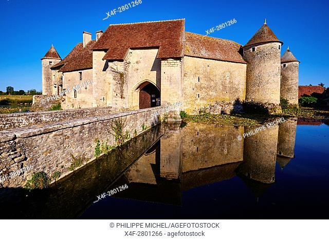 France, Cher (18), Berry, Chateau de Sagonne castle, approved historical monument, the Jacques Coeur road
