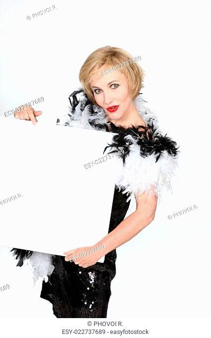Woman wearing fancy dress