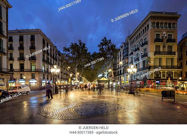 Spain, Catalonia, Catalunya, Barcelona, La Ramblas