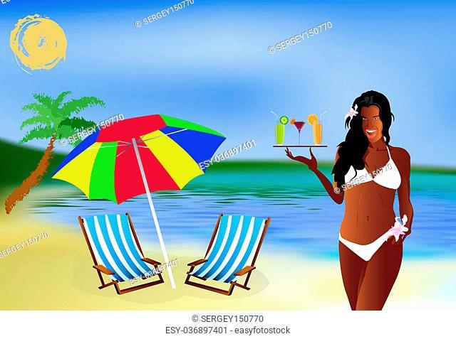 Romantic summer travel.Sea lagoon landscape