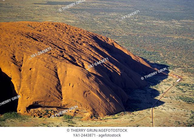 Australia, Northern Territory, Uluru Kata Tjuta National park, Ayers rock aerial view