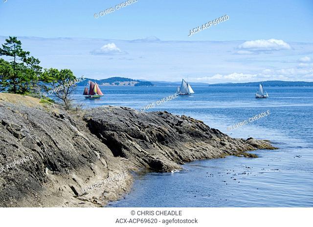 Isle-De-Lis Marine Park, located on Rum Island, off Sidney at the east end of Gooch Island, British Columbia, Canada