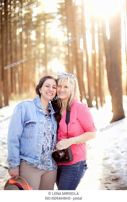 Portrait of mature women in forest