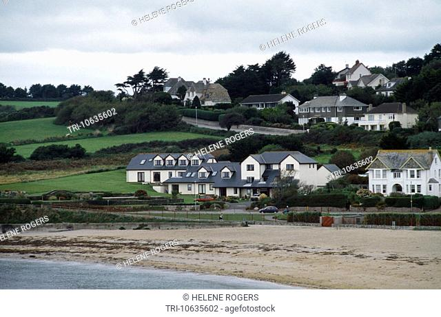 Cornwall England Falmouth Houses By The Beach