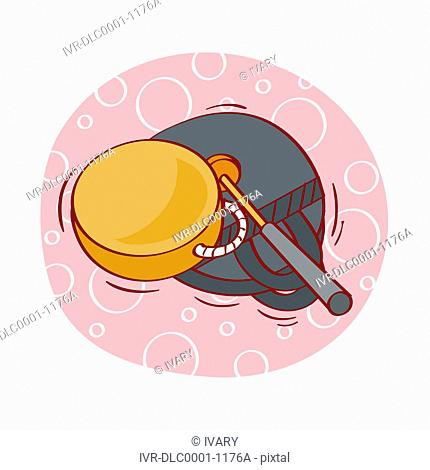 Illustration of musical instruments against white background
