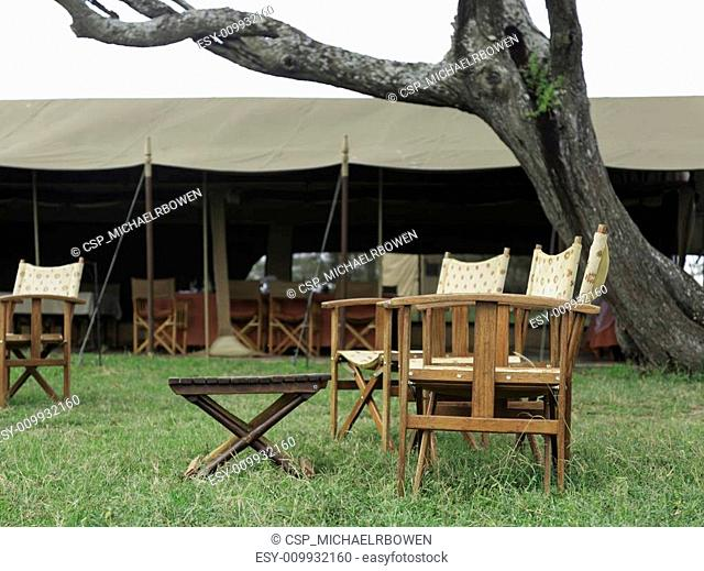 Tented accommodation at a game lodge