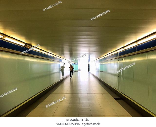 Passage. Metro station. Madrid, Spain